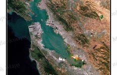 Satellite Map Of California