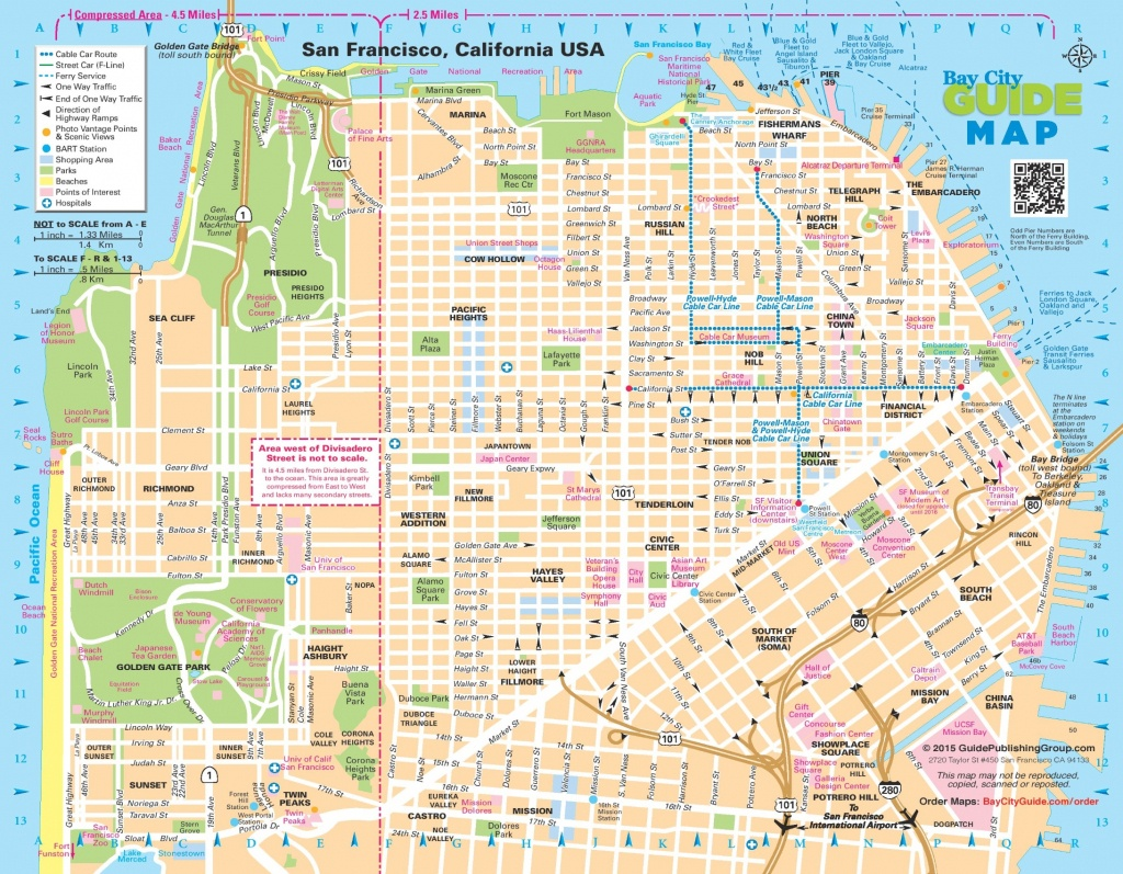 San Francisco Street Map - San Francisco City Map Printable