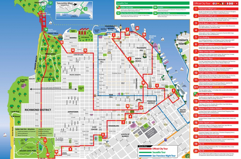 San Francisco Tour Map - City Sightseing - Printable Map Of San Francisco Tourist Attractions