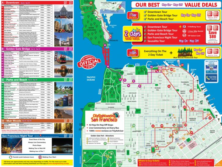 California Tourist Attractions Map