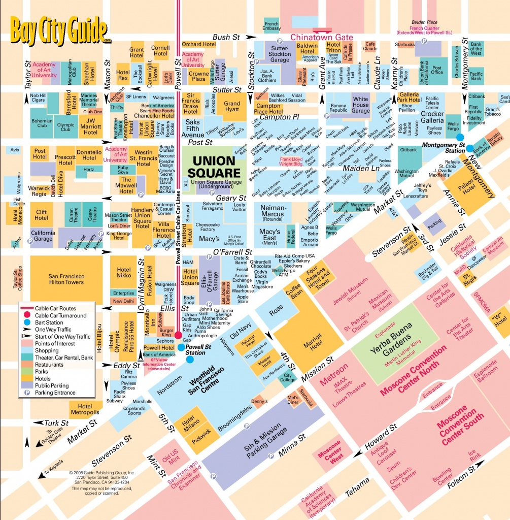 San Francisco Union Square Map - Printable Map Of Chinatown San Francisco