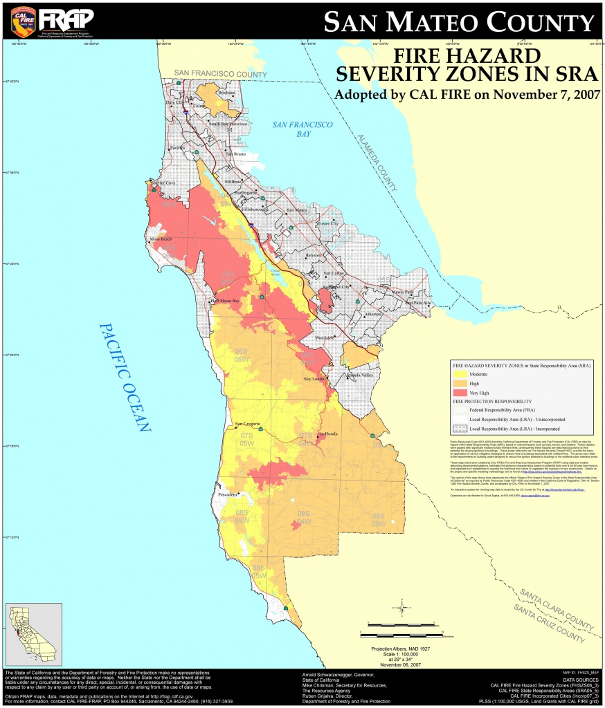 San Mateo County Cities Map And Travel Information   Download Free - San Mateo California Map