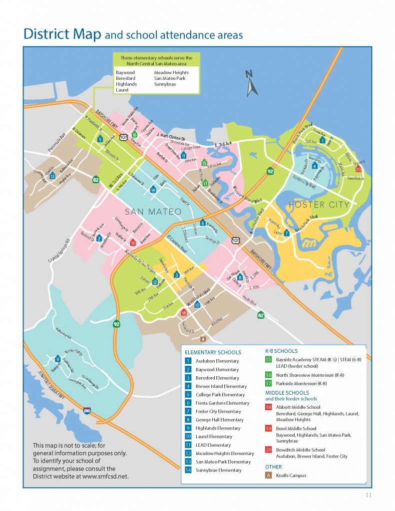 San Mateo-Foster City School District - District Map - California Lead Free Zone Map