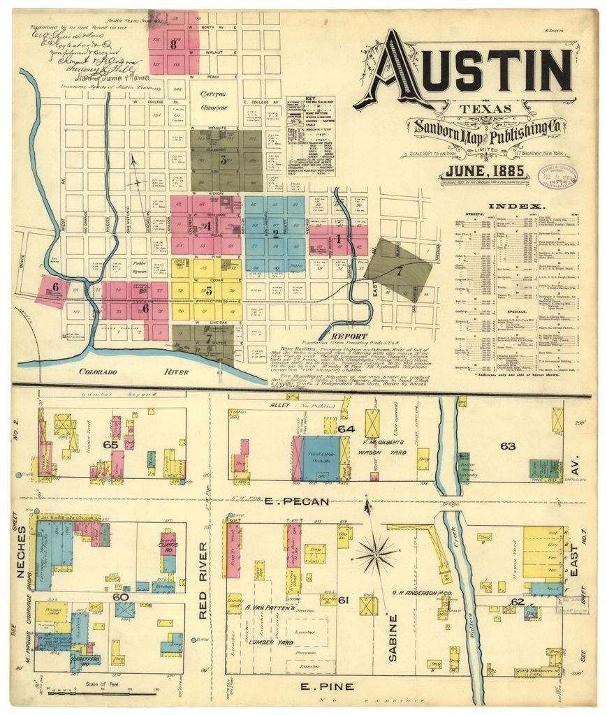 Sanborn Fire Insurance Map From Austin, Travis County, Texas - Travis County Texas Map