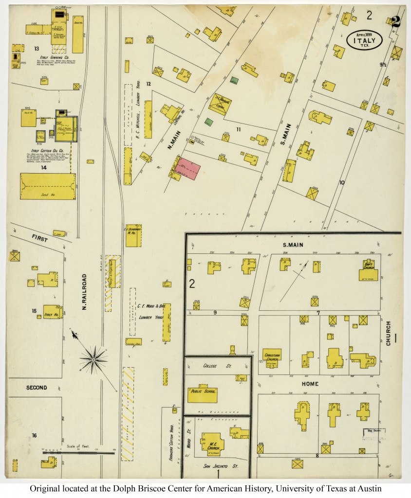 Sanborn Maps Of Texas - Perry-Castañeda Map Collection - Ut Library - Italy Texas Map