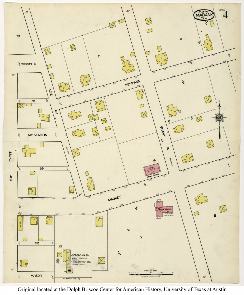 Sanborn Maps Of Texas - Perry-Castañeda Map Collection - Ut Library - Mabank Texas Map
