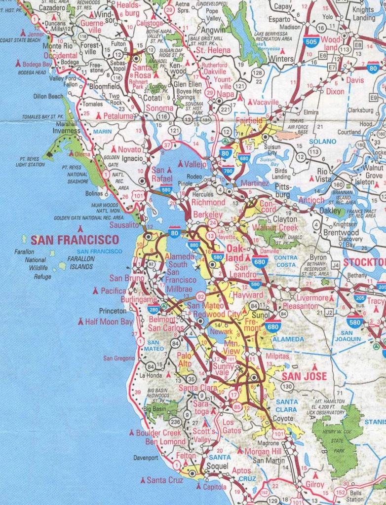 Sanfrancisco Bay Area And California Maps | English 4 Me 2 - Map Of Bay Area California Cities