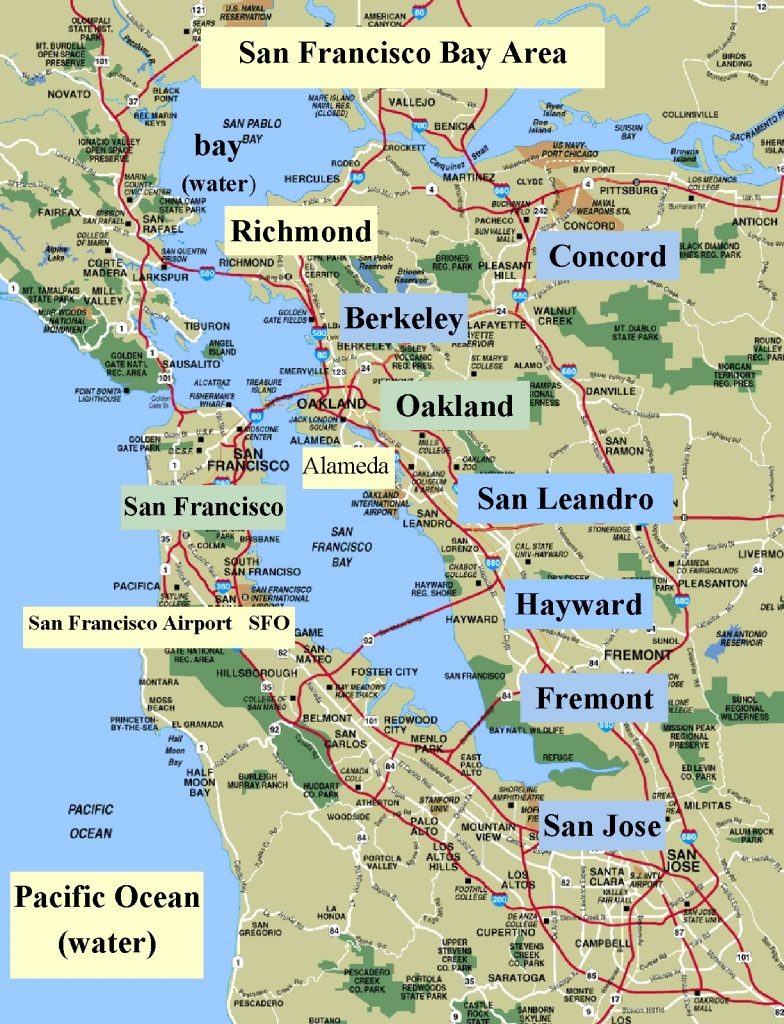 Sanfrancisco Bay Area And California Maps | English 4 Me 2 - Map Of San Francisco Area California