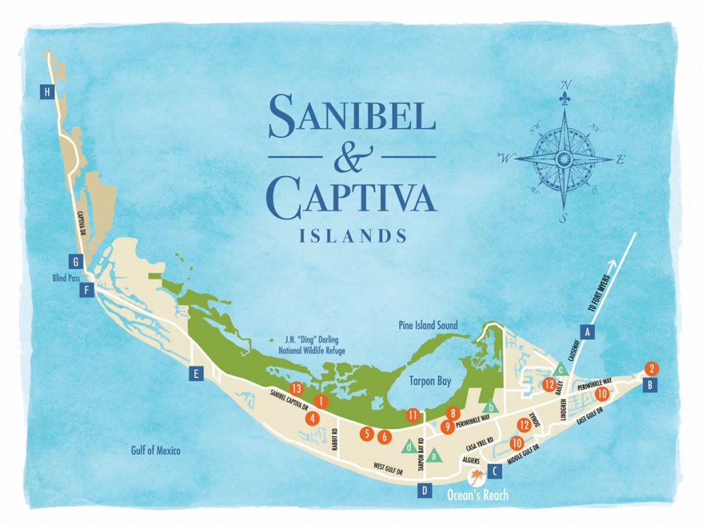 Sanibel Island Map To Guide You Around The Islands - Captiva Island Florida Map