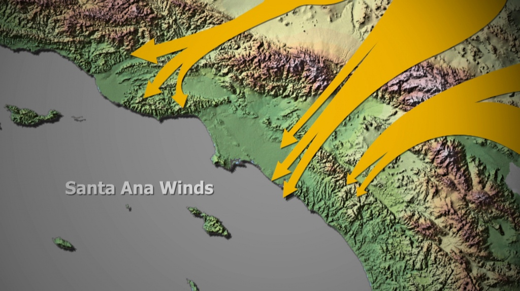 Santa Ana Winds - Real Time Wind Map California