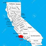 Santa Barbara County (California, United States Of America) Vector   Santa Barbara California Map