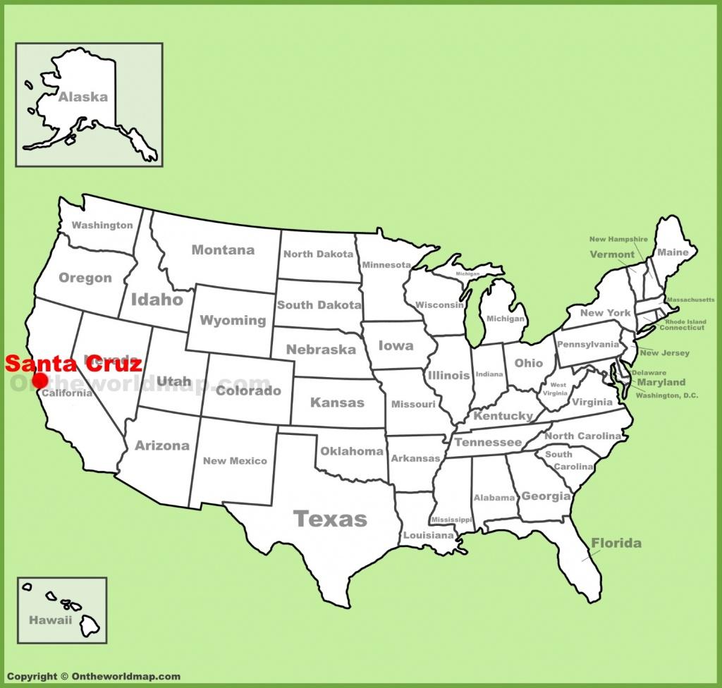 Santa Cruz Location On The U.s. Map - Santa Cruz California Map