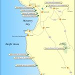 Santa Cruz   Monterey Area Campground Map   Camping Central California Coast Map