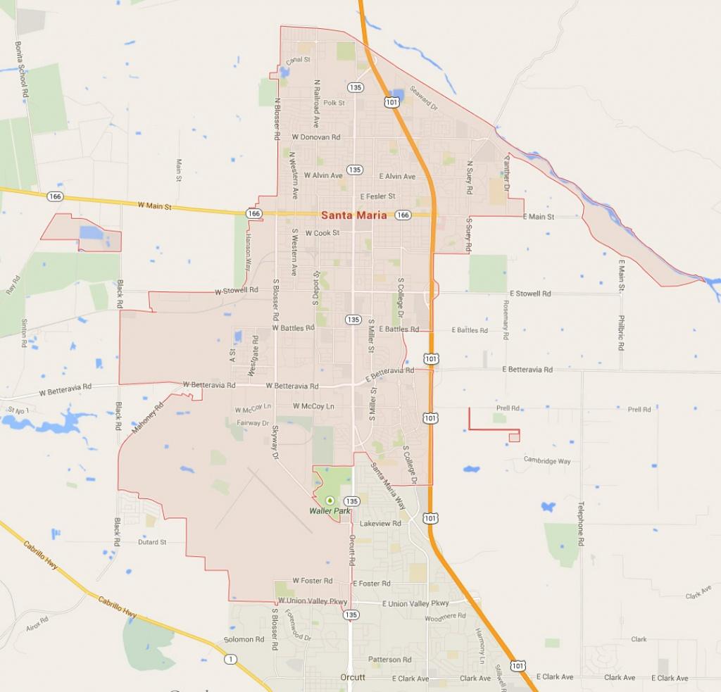 Santa Maria, California Map - Santa Maria California Map