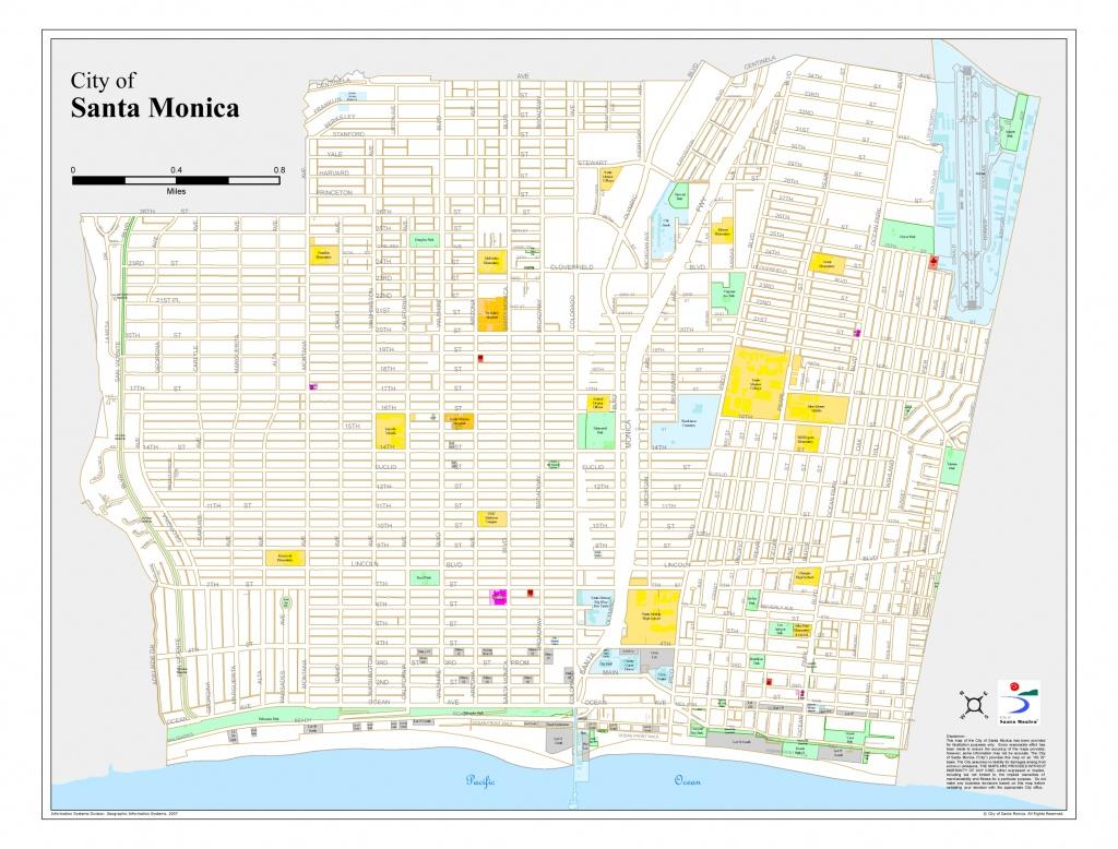 Santa Monica City Map - Santa Monica California • Mappery - Where Is Santa Monica California On A Map