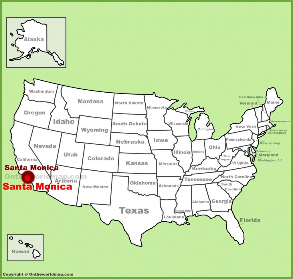 Santa Monica Maps | California, U.s. | Maps Of Santa Monica - Santa Maria California Map