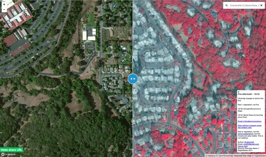 Santa Rosa Fire Map: How I Built It – Points Of Interest - California Fire Map Right Now