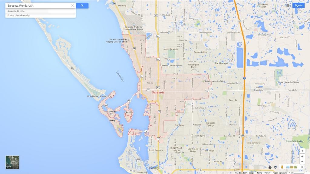 Sarasota Florida Map - Map Sarasota Florida Usa