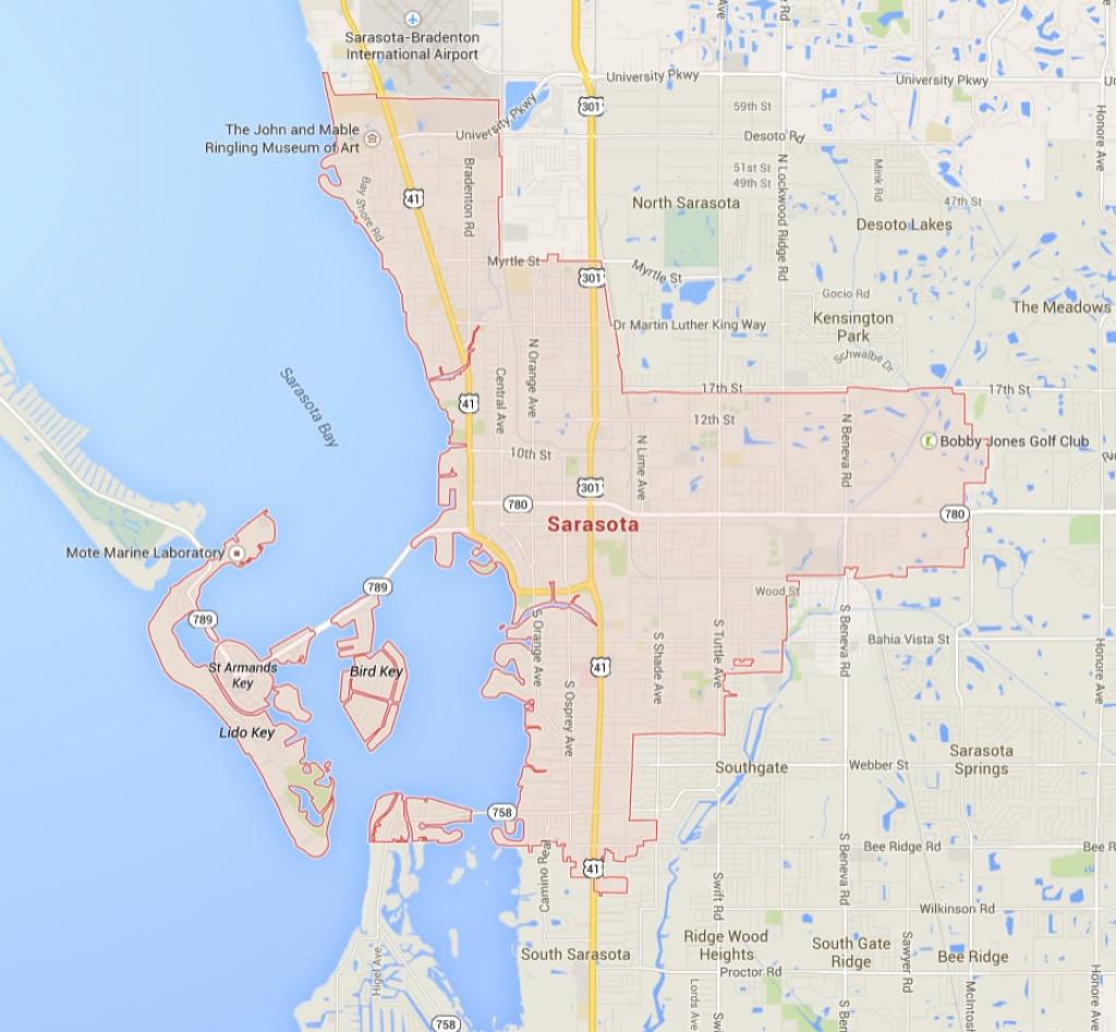 Sarasota Florida Map - Sarasota Florida Map Of Florida