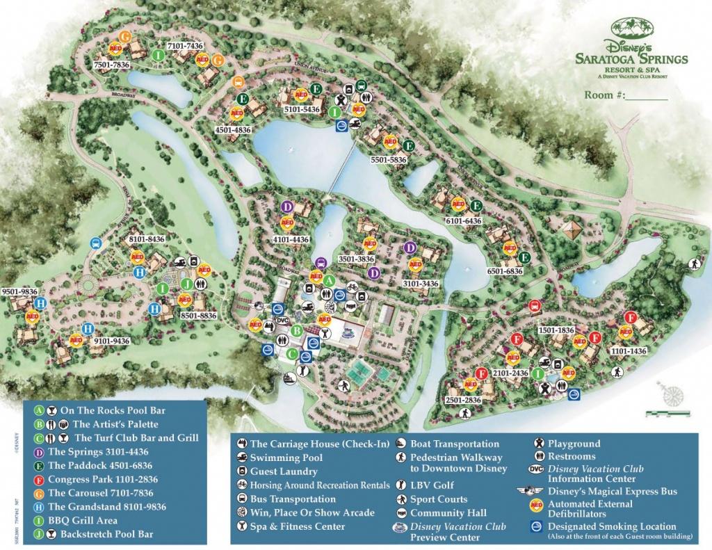 Saratoga Springs Resort Spa Map - Wdwinfo - Map Of Disney Springs Florida