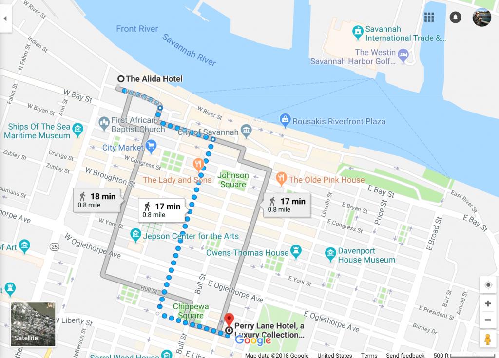 Savannah, Georgia Has Two Starwood Hotels Opening Summer 2018 - Spg California Map