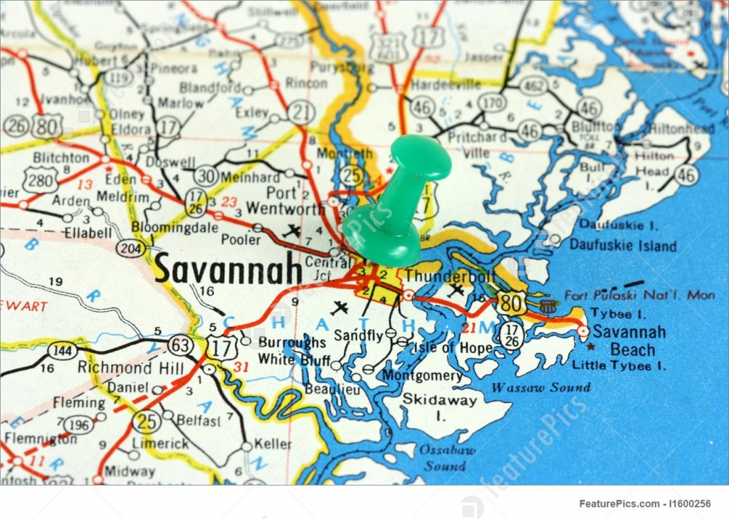 Savannah, Georgia Photo - Printable Map Of Savannah