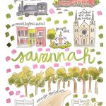 Savannah Map Print – Evelyn Henson Www.evelynhenson | Evelyn – Printable Map Of Savannah Ga