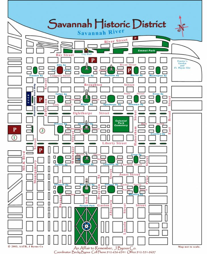 Printable Map Of Savannah Ga Historic District