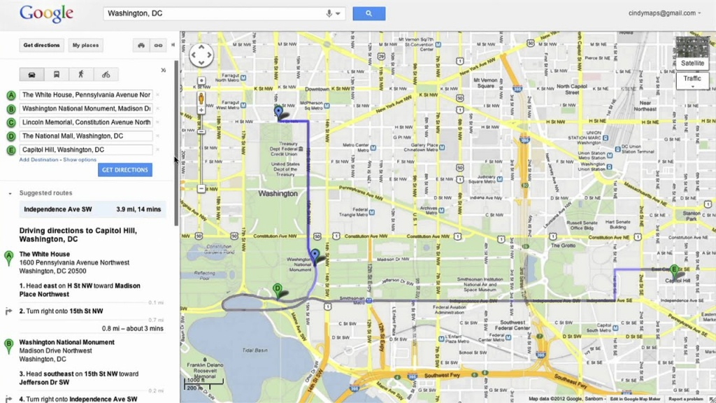 Saving Directions In Google Maps - Printable Directions Google Maps