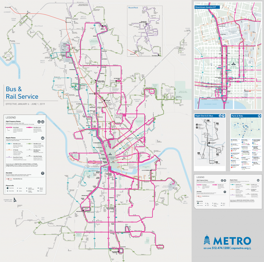 Schedules And Maps - Capital Metro - Austin Public Transit - Round Rock Texas Map