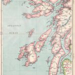 Scottish Islands/argyll:mull Islay Of Kintyre Jura Arran Stock Photo   Printable Map Of Mull