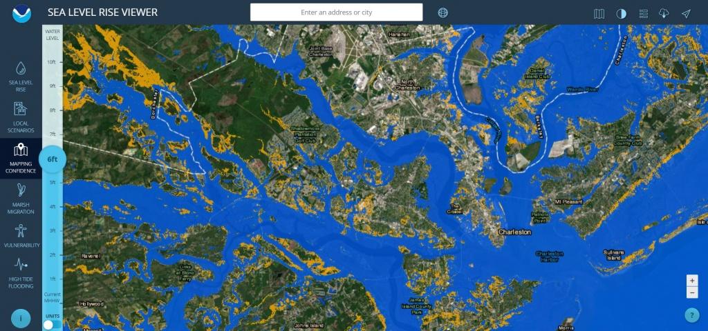 Sea Level Rise Viewer - Florida Water Rising Map