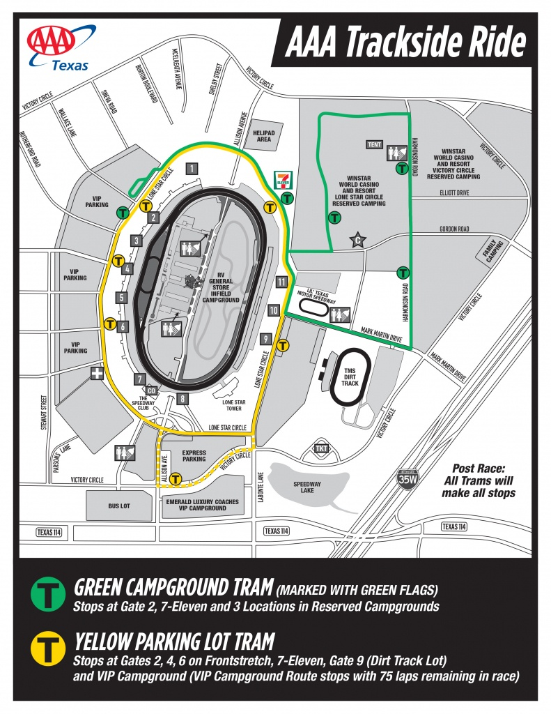 Seating Chart And Facility Maps - Texas Motor Speedway Track Map