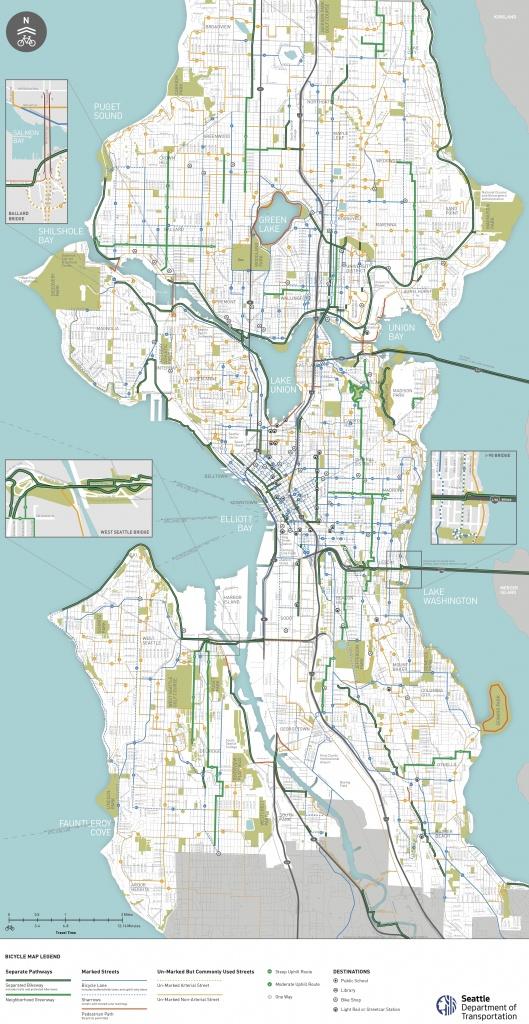 Seattle Area Bike Maps | Seattle Bike Blog - Printable Map Of Seattle