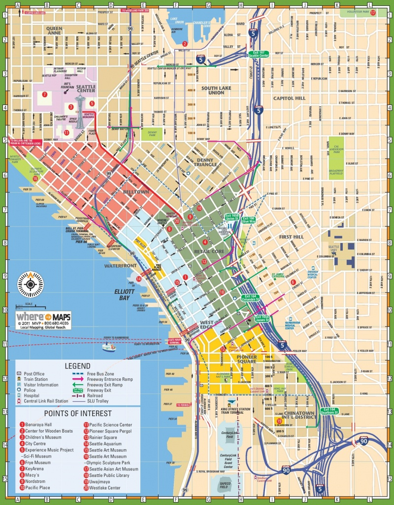 Seattle Maps   Washington, U.s.   Maps Of Seattle - Seattle Tourist Map Printable