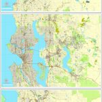 Seattle Pdf Map State Washington, Us Printable Vector City Plan 3   Printable Map Of Seattle