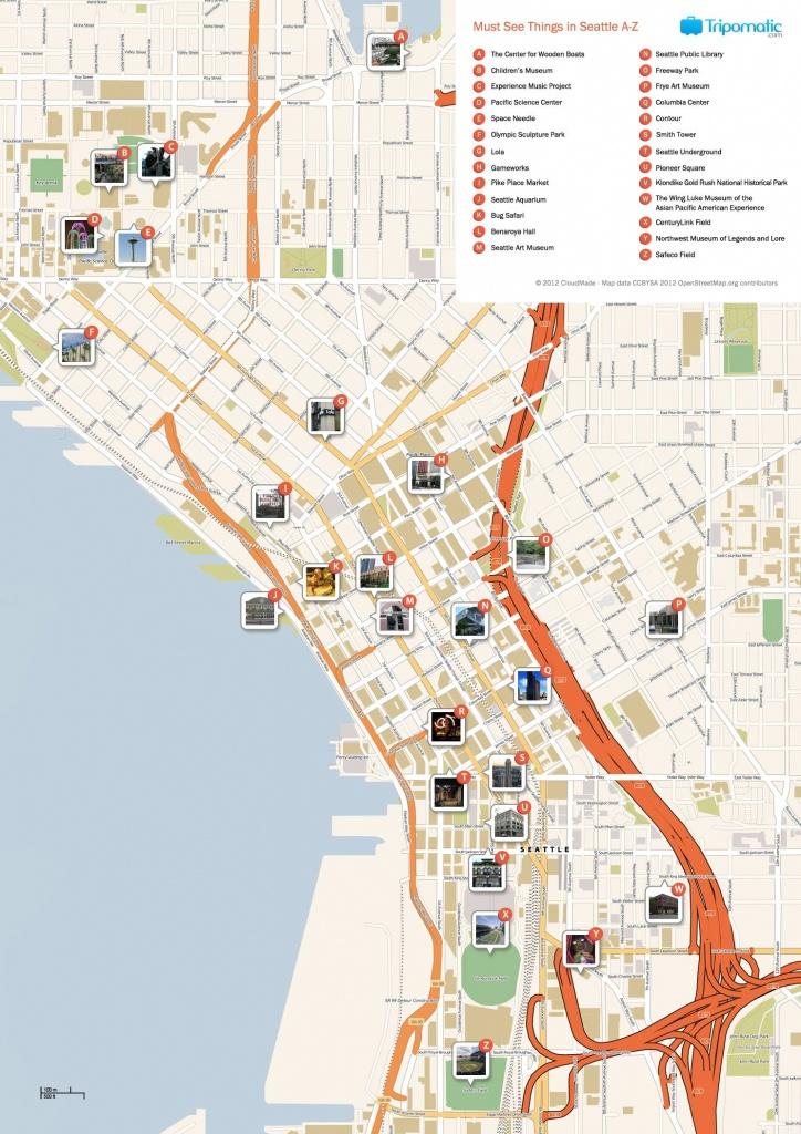 Seattle Printable Tourist Map   Free Tourist Maps ✈   Seattle - Seattle Tourist Map Printable