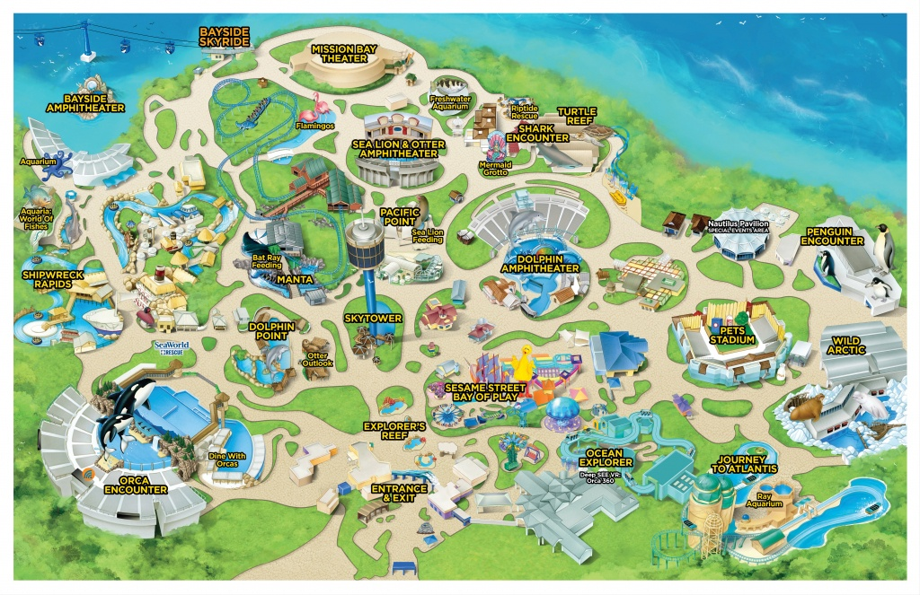 Seaworld California | Seaworld Parks And Entertainment - Seaworld California Map