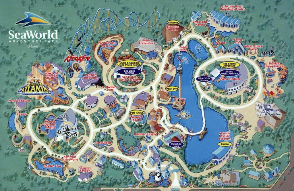 Seaworld Map Orlando - 7007 Sea Harbor Dr Orlando Fl • Mappery - Seaworld Orlando Printable Map