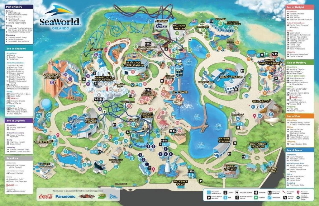 Seaworld Orlando Map - Map Of Seaworld (Florida - Usa) - Seaworld Orlando Printable Map