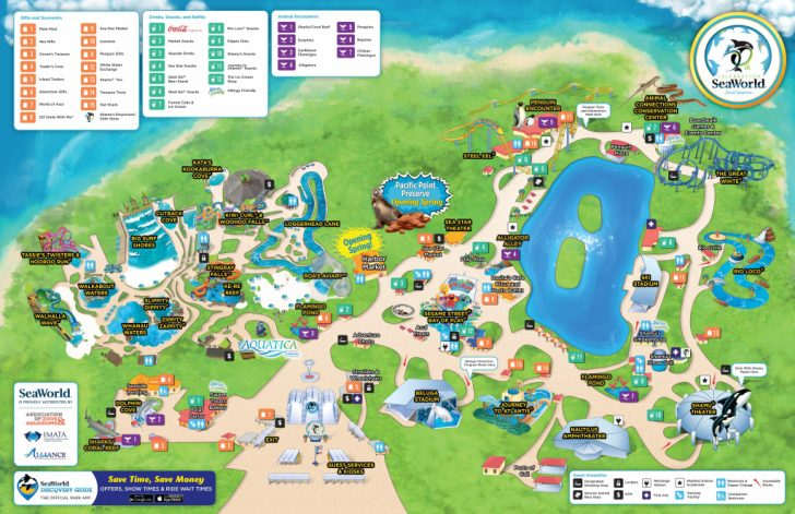 Printable Map Of Seaworld San Antonio