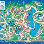 Seaworld Orlando Theme Park Map   Orlando Fl • Mappery | Aquariums   Seaworld Orlando Map 2017 Printable