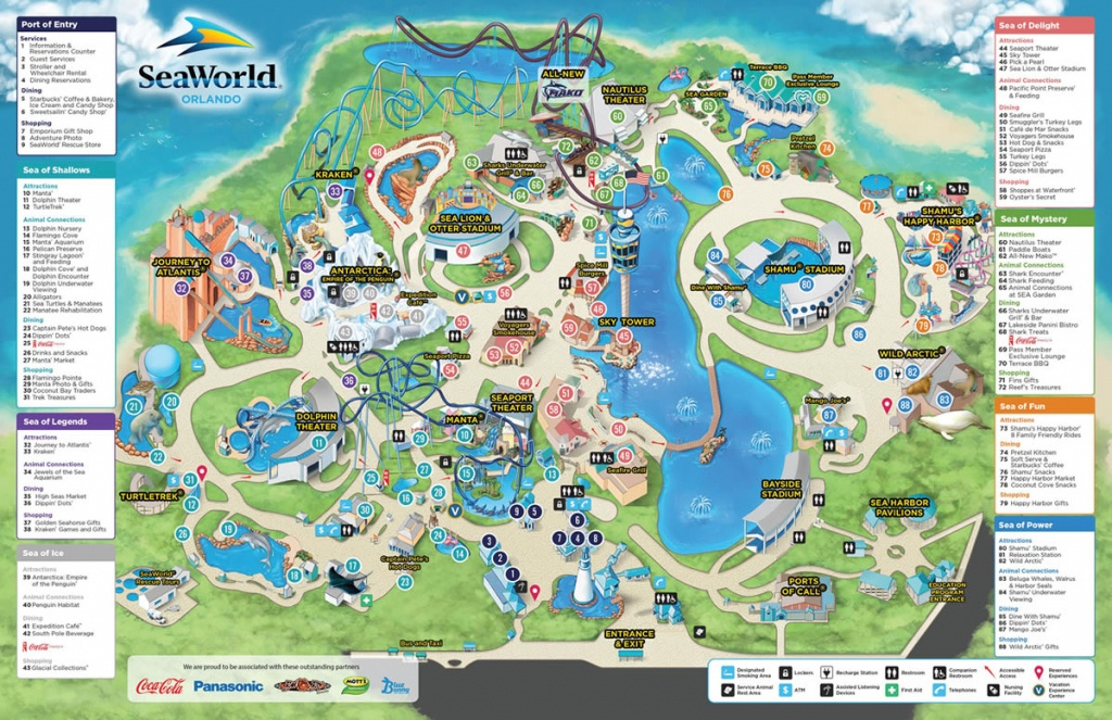 Seaworld - Park Information And Guide Map For Seaworld Orlando - Seaworld Orlando Park Map Printable