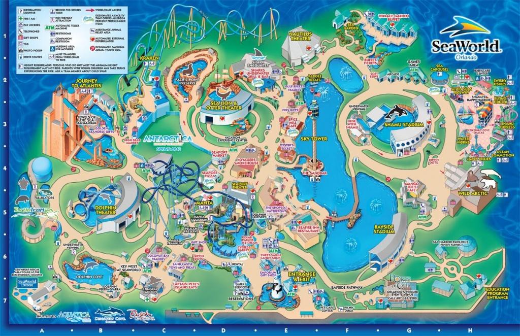 Seaworld Park Map   Seaworld Orlando   Orlando Usa   Pinterest - Seaworld Map Orlando Florida