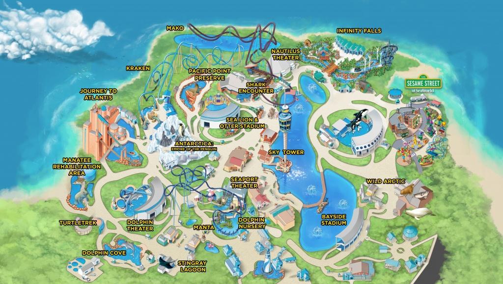 Seaworld Parks & Entertainment | Know Before You Go | Seaworld - Florida Sea World Map