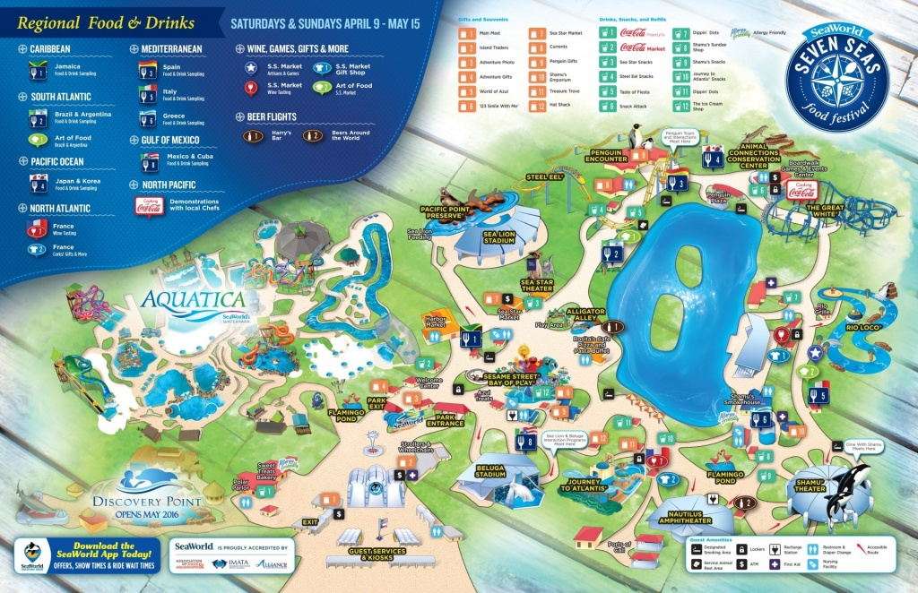 Seaworld San Antonio Aquatica Map | D1Softball - Seaworld San Antonio Printable Map