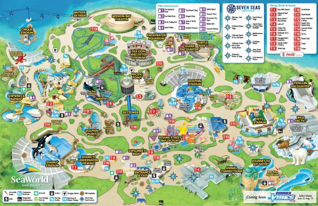 Seaworld San Diego Map - Map Of Seaworld San Diego (California - Usa) - Seaworld San Antonio Printable Map