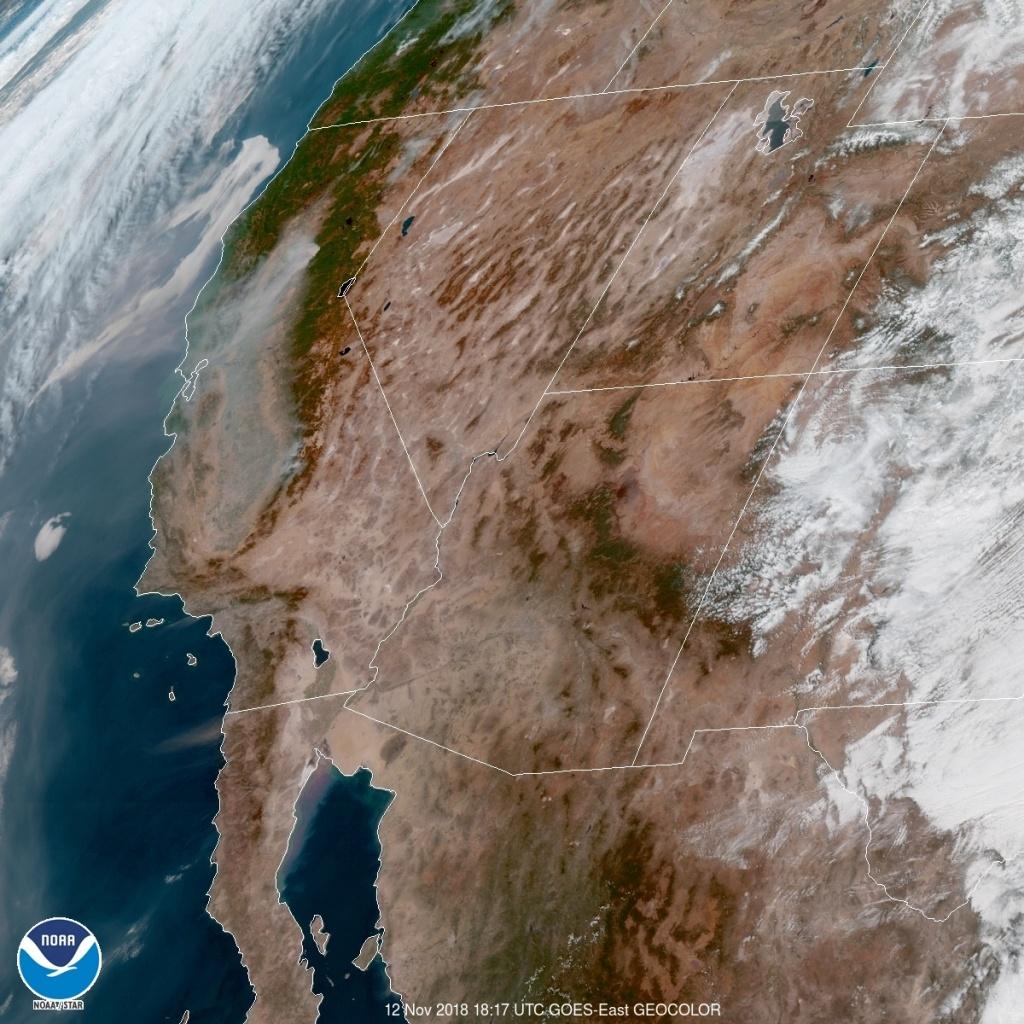 See What California Wildfire Smoke Looks Like From Space | Time - California Wildfire Satellite Map