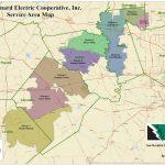 Service Territory Map | San Bernard Electric Cooperative   Texas Electric Cooperatives Map