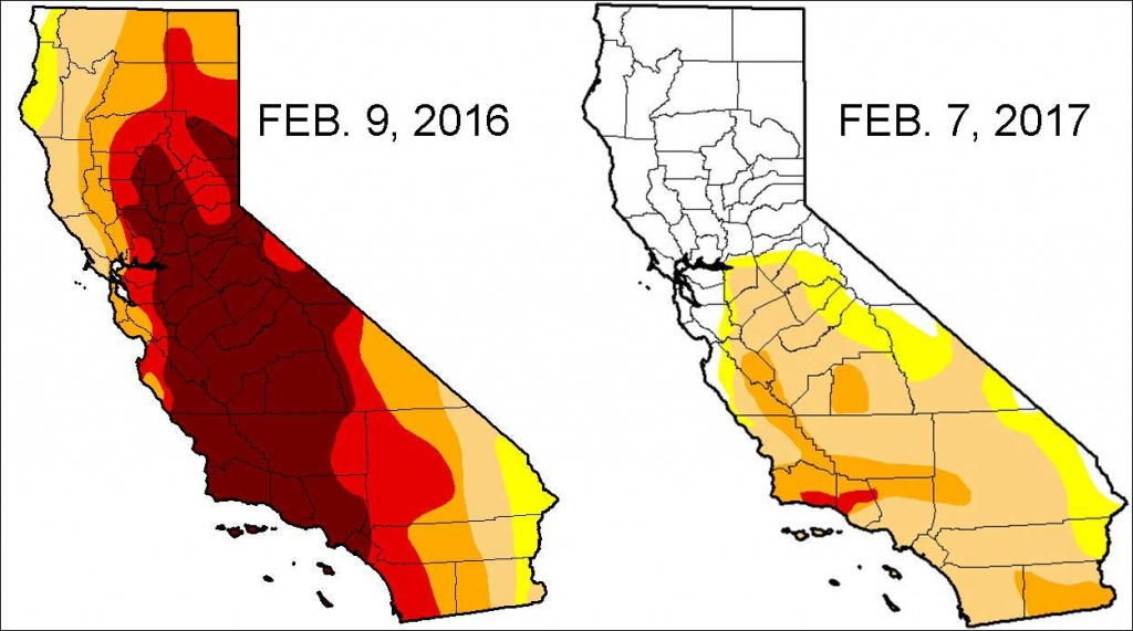 Severe Drought Down To 11 Percent In California - Nbc Southern - California Drought 2017 Map